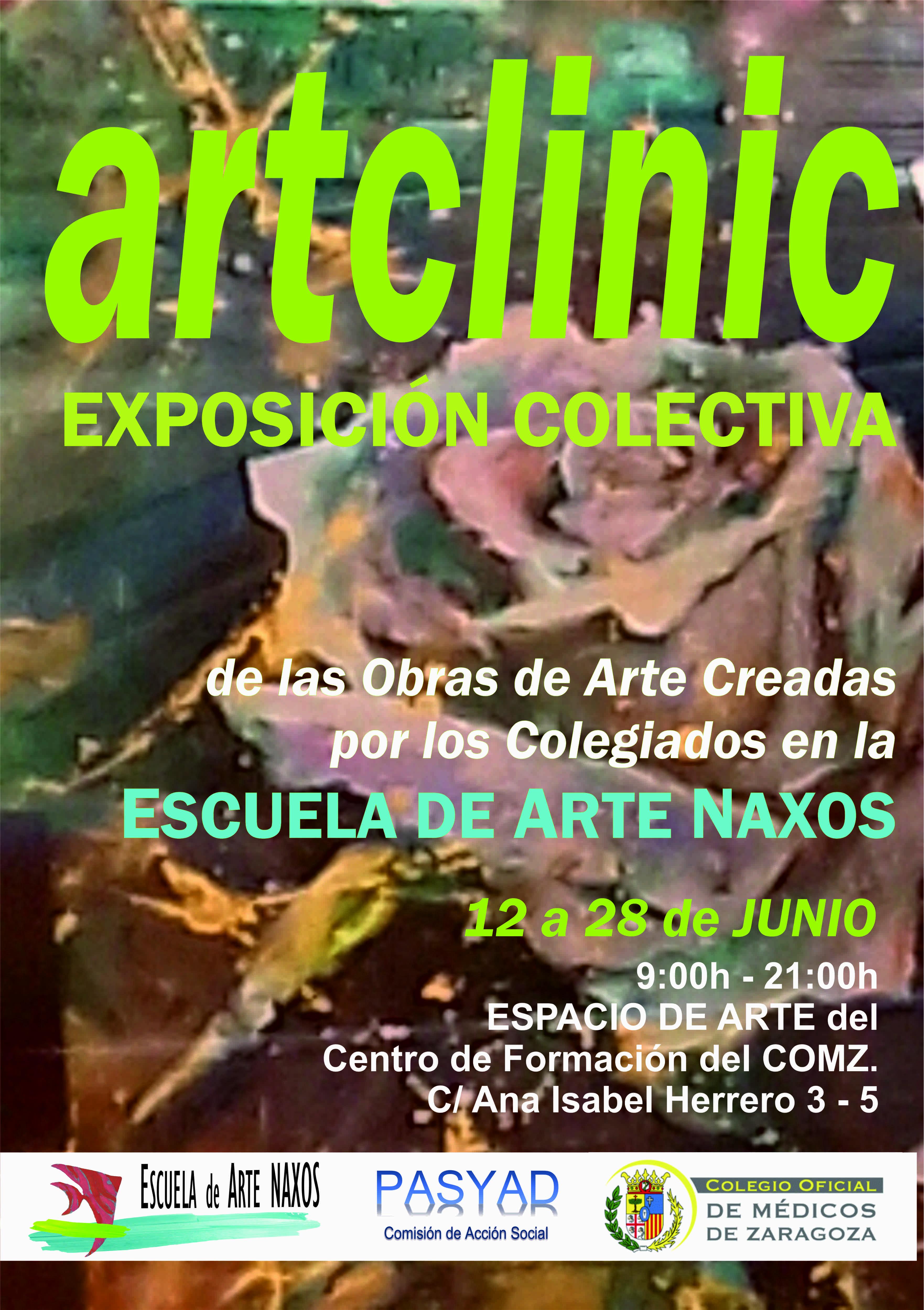 ART CLÍNIC. NUEVA EXPOSICIÓN DE ALUMNOS DE LA ESCUELA DE ARTE NAXOS.