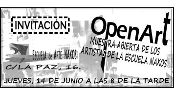 invitación OPEN ART